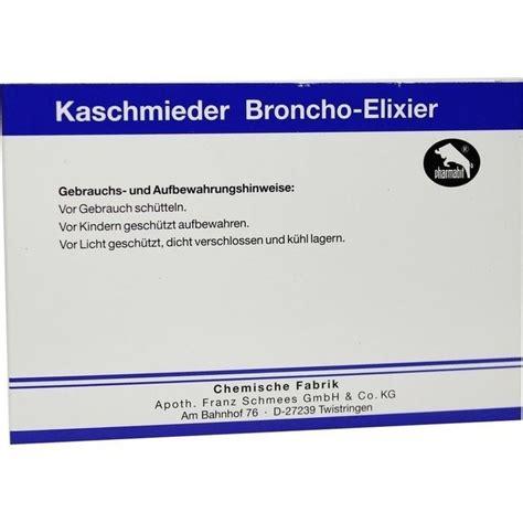 kaschmieder broncho elixier vet  ml pharmamedico gmbh