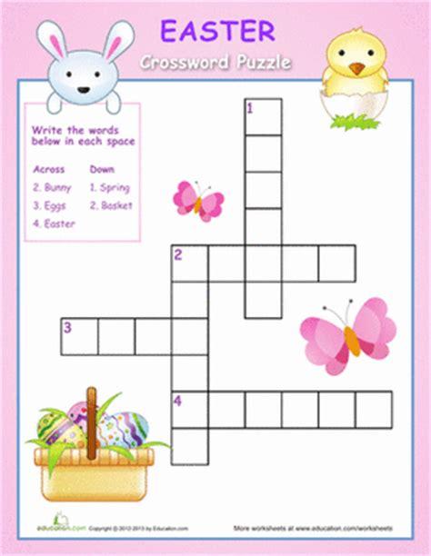 easter crossword puzzle worksheet education 878 | easter crossword puzzle games kindergarten