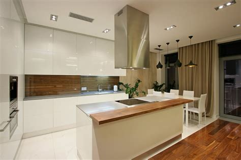 kitchen island extractor fans spacious city dwelling