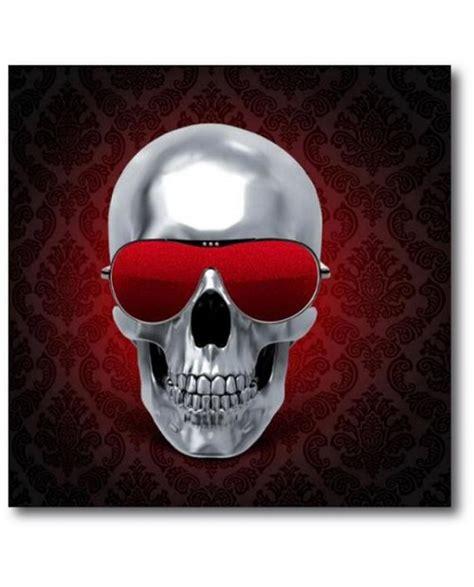 t 234 te de mort a poid tableau squelette avec lunette paillette int 233 rieur design defacto