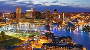 Baltimore Cityscape With The Inner Harbor - Maryland ...