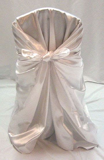 satin self tie chair cover