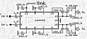 La4440 Power Amplifier Circuit