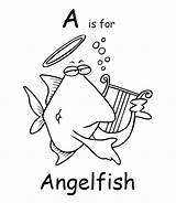 Coloring Angelfish Pages Printable Colouring Cartoon Fish Town Animals Animal Ch Getcoloringpages Sheet Tropical sketch template