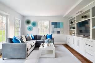 farbmuster wohnzimmer wandgestaltung in grau und türkis 25 farben ideen