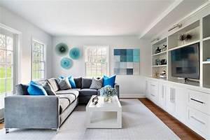 Moderne Wohnzimmer Wandgestaltung : wandgestaltung in grau und t rkis 25 farben ideen ~ Michelbontemps.com Haus und Dekorationen