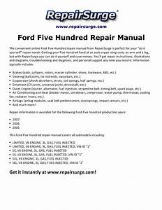 Ford Five Hundred Wiring Diagram