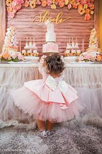 Kara's Party Ideas Birthday Girl + Sweet Table from a Pink