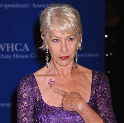 Vanité Signification by Helen Mirren Rend Hommage 224 Prince Avec Un Tatouage