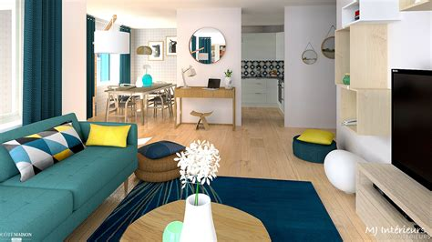 agencement cuisine appartement scandinave contemporain mj intérieurs côté