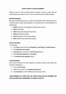 How to Write a (GOOD) Summary