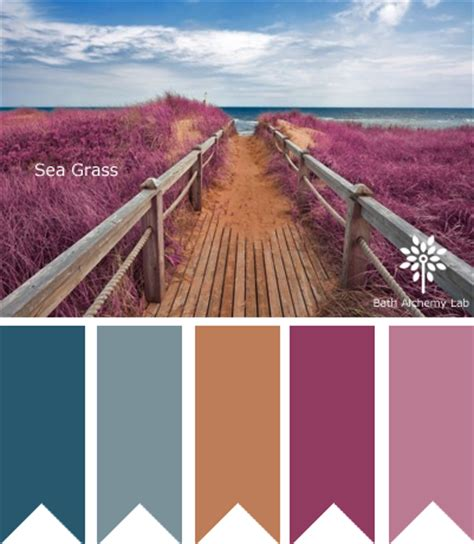 color palette inspiration sea grass bath alchemy lab