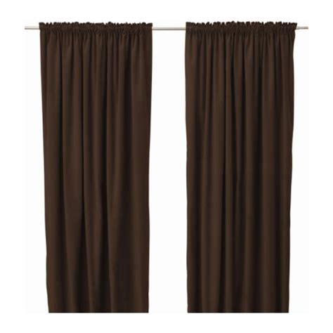 Ikea Sanela Curtains Brown by Chocolate Velvet Curtains Curtains Blinds