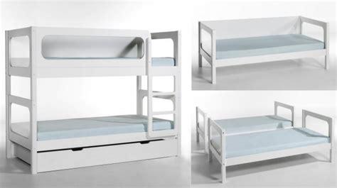 chambre bébé bleu et blanc lit superposé séparable