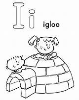Igloo Coloring Doghousemusic Letter sketch template
