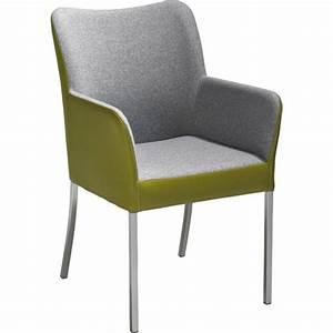Stühle Grau Leder : armlehnstuhl in metall textil leder grau gr n edelstahlfarben st hle esszimmer wohn ~ Watch28wear.com Haus und Dekorationen