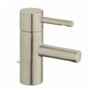 shop grohe essence brushed nickel 1 handle single watersense bathroom faucet drain