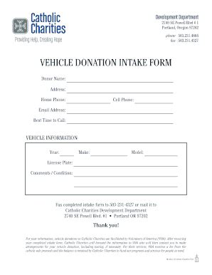 vehicle donation form 11 printable charitable donation form template fillable
