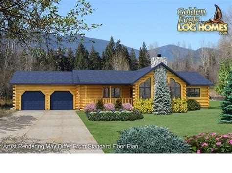 Ranch Style Log Home Floor Plans by Ranch Log Homes Floor Plans Single Story Log Homes Ranch