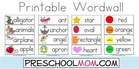 preschool resources tot school preschool word walls
