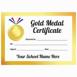 Sport Certificate Templates Sports Day Gold Medal Certificates School Stickers