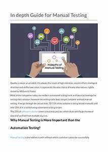 In Depth Guide For Manual Testing