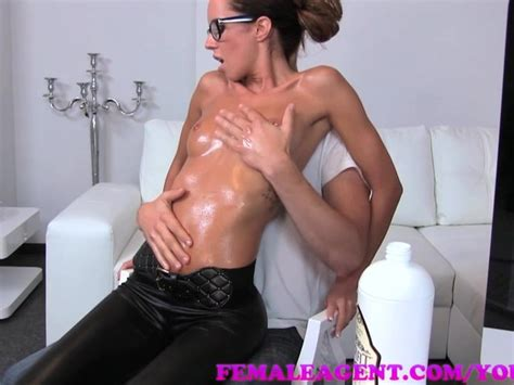 Femaleagent Milf Gets All Oiled Up By Massuse Stud Free