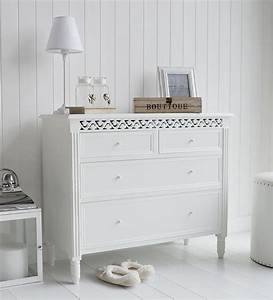 New England White Chest Of Drawers Bedroom Hall Or