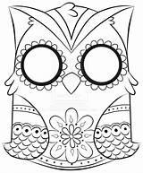 Coloring Owl Popular sketch template