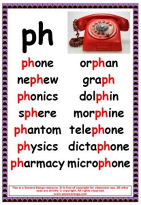 phonics poster ph words seomra ranga