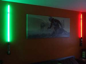 lightsaber wall lights the force of light be with you also With light it up bedroom wall lights