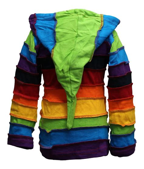 hippie sweaters children pixie colorful hippie striped hoodie hippy boho