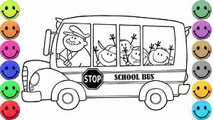 School Bus Coloring Pages - Drawing for Kids - Learn ...