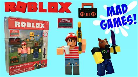 roblox toys mad studio mad pack unboxing toy review