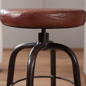 Tabouret De Bar Marron : tabouret de bar m tal bill 55cm marron ~ Melissatoandfro.com Idées de Décoration