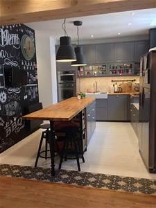 amenagement optimise et deco pour ma cuisine ouverte With idee entree de maison 4 peinture dun hall dentree et frise au pochoir