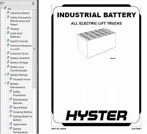 Hyster Class 3 B230 B60zac Electric Motor Hand Trucks Pdf