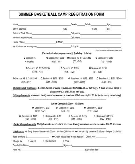 sle summer c registration form 10 free documents in pdf