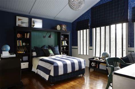 cool dark blue teenage boys bedroom
