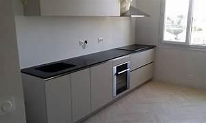Plan De Travail Cuisine Granit : plan de travail cuisine granit noir 4 avec marbrerieloup t ~ Dallasstarsshop.com Idées de Décoration