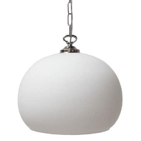 spherical opal glass ceiling pendant light on chrome