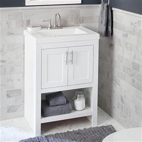 Home Depot Sink Bathroom by Shop Bathroom Vanities Vanity Cabinets At The Home Depot