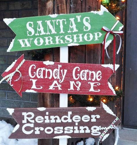 santas village diy outdoor sign diy outdoor christmas