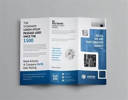 Brochure Fold Tri Template Corporate Stunning Templates