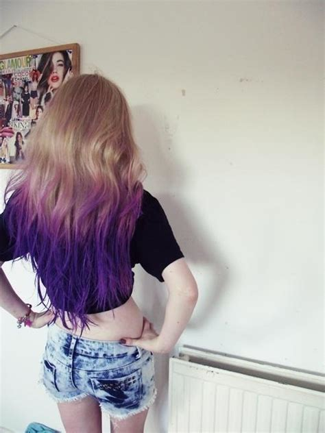 Purple Blonde Ombre Hair Hairstyles How To
