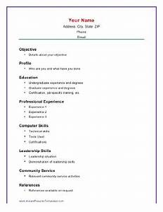 basic academic resume template With free printable basic resume templates
