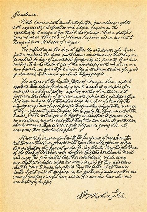 letter to the jews washington s letter to the hebrew congregation of newport