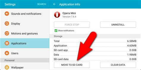 move android apps to sd card how to install and move android apps to the sd card