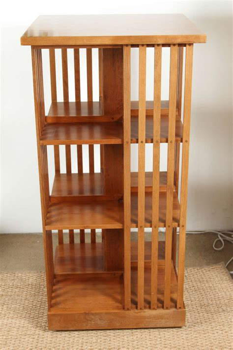 Rotating Bookcase Ikea by Signed Stickley Revolving Bookcase At 1stdibs