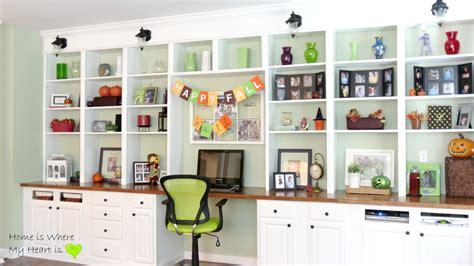 built in desk and bookshelves remodelaholic build a wall to wall built in desk and